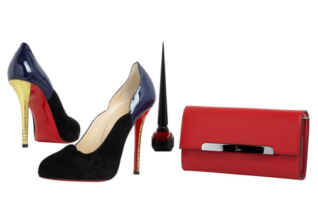 chaussure louboutin et portefeuille louboutin