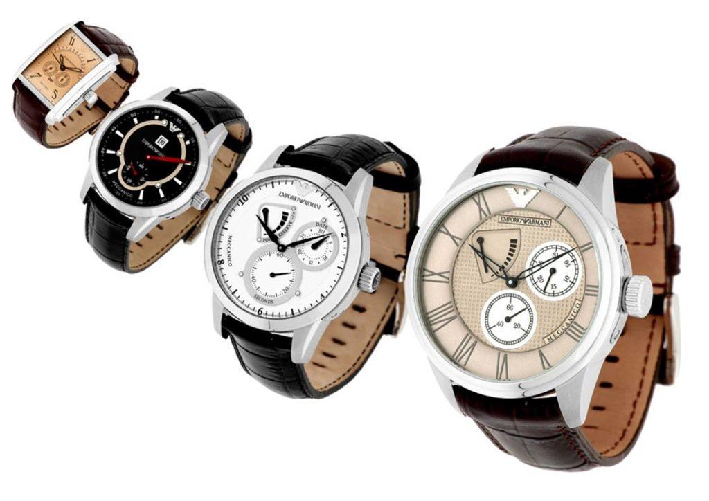 montage packshot de montre emperio armani par r2shoot